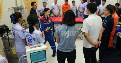 """บุรีรัมย์ ซ้อมแผนเสริมทักษะเชิงปฏิบัติการ """"การดูแลผู้ป่วยบาดเจ็บหลายระบบ และการเคลื่อนย้ายผู้ป่วยทางอากาศ"""" รับการแข่งขัน MOTO GP"""