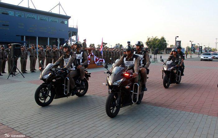 """ปล่อยแถวระดมกวาดล้างอาชญากรรมก่อนการแข่งขันรถจักรยานยนต์ชิงแชมป์โลก รายการ โมโต จีพี สนามที่ 15 """"PTT Thailand Grand Prix 2018"""""""