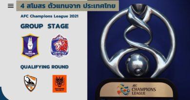 4 สโมสร ตัวแทนประเทศไทย ลุย เอเอฟซี แชมเปียนส์ลีก ฤดูกาล 2021