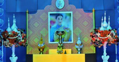 """จังหวัดบุรีรัมย์ประกอบพิธีเชิญถ้วยพระราชทาน รางวัลชนะเลิศการแข่งขันวิ่ง """"บุรีรัมย์ มาราธอน 2021"""" จากสมเด็จเจ้าฟ้าฯ กรมหลวงราชสาริณีสิริพัชร มหาวัชรราชธิดา อย่างสมพระเกียรติ"""