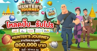 ททท. เปิดตัวแอปพลิเคชัน Hunter Journey ล่าท้าเที่ยว ชวนดาวน์โหลดแอปฯ ร่วมสนุกเล่นเกม ตะลุยทำภารกิจล่าของรางวัลจากแหล่งท่องเที่ยวทั่วไทยมากมาย รวมมูลค่ากว่า 800,000 บาท และหนึ่งเดียวที่จะพิชิตเหรียญทองคำมูลค่า 100,000 บาท